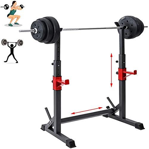 HT&PJ Rack Squat Multifunzionale Regolabile in Altezza Squat Rack Adatto per L'allenamento Muscolare è Adatto per Attrezzature Fitness Professionali da Casa, con Un Carico Massimo di 300 kg