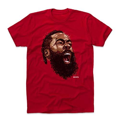 500 LEVEL James Harden Shirt (Cotton, Large, Red) - Houston Men's Apparel - James Harden Scream N WHT