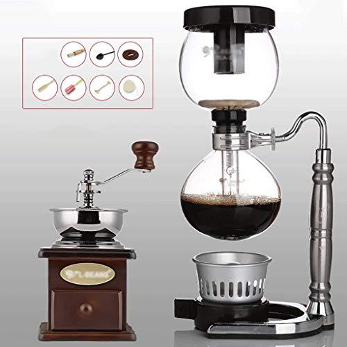 GUOXY Manual Coffee Grinder -Siphon Máquina de Café Juego de Café Del Sifón Del Ratón Del Zodiaco Totem Sifón Jarra Cafetera 3 Ventosas Máquinas de Café