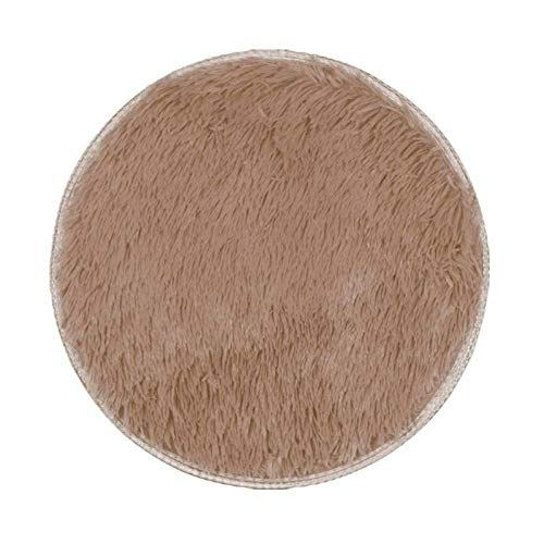 Round Rug Thick Carpet Living Room Plush Rug Children Bed Room Fluffy Floor Carpets Rugs Soft Mat Window Home Decor -80cm_United_States_B