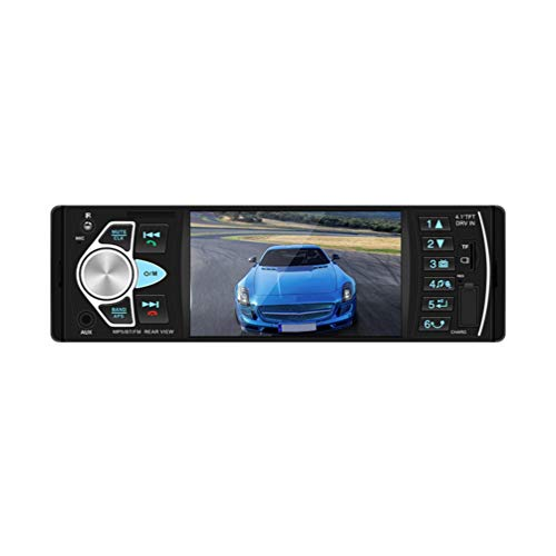 Wakauto Leitor profissional de MP5 para carro, 4,1 polegadas, durável, prático, HD, Premium, MP5 Player de rádio de carro montado no veículo para carros, automóveis e veículos