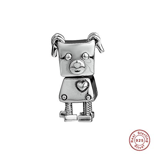 MOCCI 2018 Winter 925 Silber Bobby bot Hund Perle DIY Passt für Original Pandora armbänder Charme modeschmuck