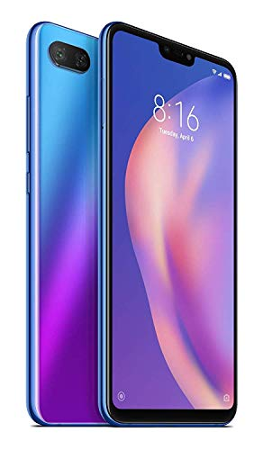 Xiaomi Mi 8 Lite, Dual Sim, 4GB RAM and 64GB Storage 6.26-Inch Android 8.1 UK Version SIM-Free Smartphone - Blue (Official UK Launch), 21121