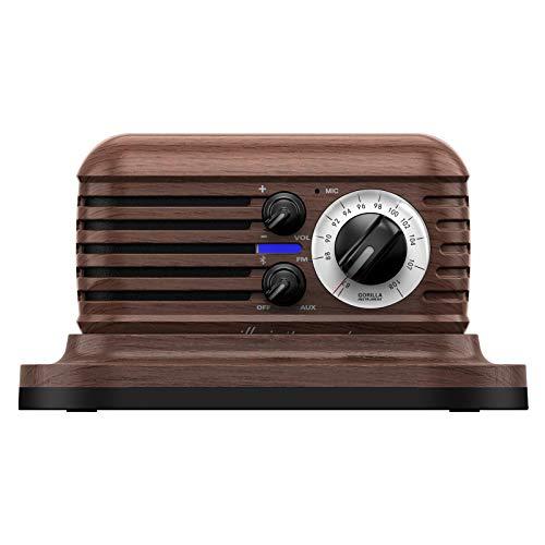 Kkachi Retro Bluetooth Speaker,Vintage Portable Radio Speaker,AUX-in and FM Radio for Home and...
