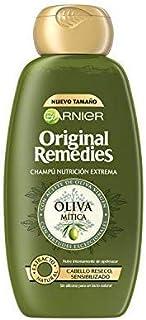 Garnier Original Remedies - Champú Nutrición Extrema Oliva Mítica para Pelo Reseco y Sensibilizado - 300 ml