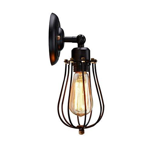 Kleine Lantaarn Ijzeren Frame Wandlamp, Creatieve Retro Industriële Stijl, Verstelbare Hoek Geschikt Voor Het Versieren Van Slaapkamer, Woonkamer, Bar (zonder Lichtbron)