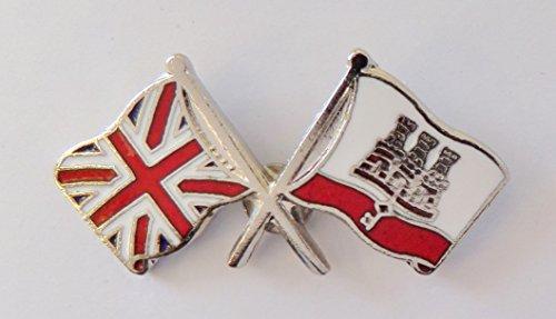 1000 drapeaux Gibraltar et drapeau du Royaume-Uni