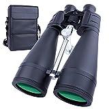 20x80 Prismáticos para Adultos de Alta Potencia, Telescopio de Viaje de Visión Nocturna con Poca luz Impermeable, Caza, Observación de Aves, Binoculares Astronomisch, Estuche de Transporte Incluido