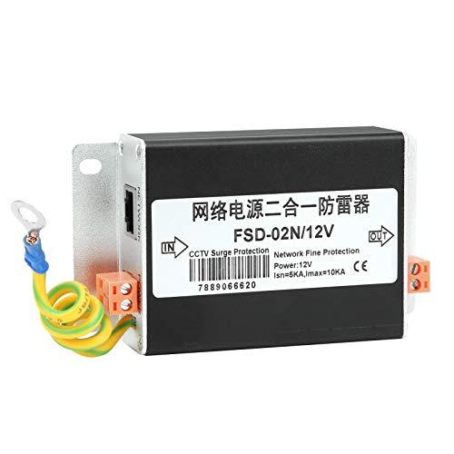 Pwshymi 2-in-1-Überspannungsschutz-Donnerschutzgerät zum Feinschutz gegen Stromstörungen für Digitale Netzwerke