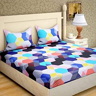 PRIDHI 180TC Pure Cotton Double Bedsheet with 2 Pillow Cover Rajasthani Design5