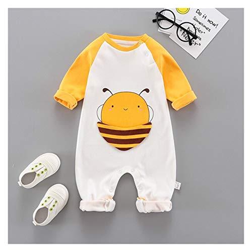 Youpin Ropa de una sola pieza de manga larga para bebé, súper linda, ropa para recién nacido, ropa para niños, estilo harén, ropa (color: abeja, tamaño de niño: 66 cm)
