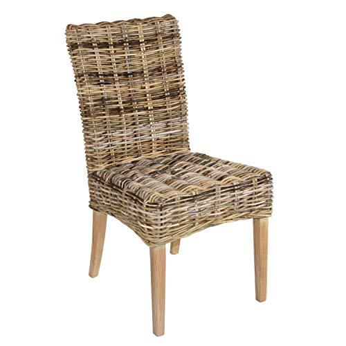 Casamia Rattan-Stuhl Esszimmerstuhl New Bilbao aus Mangrove ohne Sitzkissen, One Size