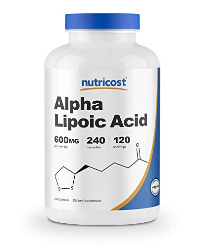 Nutricost Alpha Lipoic Acid 600mg Per Serving, 240 Capsules - Gluten Free, Vegetarian Capsules, Soy Free & Non-GMO