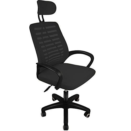 ihaushalt Ergonomic Adjustable Office Chair Swivel Chair Reclining Office Chair Mesh Back Chair Cheap Office Chair for Home (Black-b1)