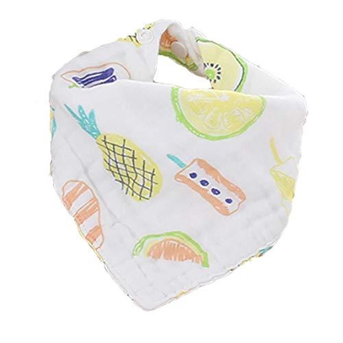 IUwnHceE Bebé de la Historieta del bebé triángulos Vajilla Babero Absorbente estupendo Toalla orgánica Baba bebé Vajilla Baberos para niños y niñas (piña)