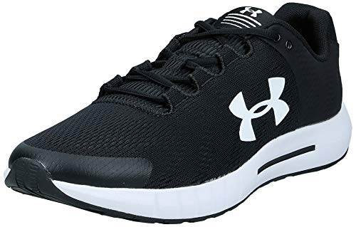 Under Armour Men's Micro G Pursuit BP Running Shoe, Black (001)/White, 11