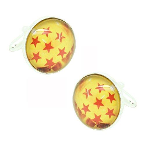 MasGemelos-Boutons de Manchette-Dragon Balls 7 Étoiles Cufflinks
