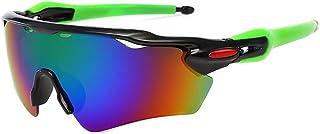 QWKLNRA - Gafas De Sol para Hombre Lente De Color Marco Negro Y Verde Polarised Sports Sunglasses Cycling Gafas De Sol Pesca Gafas De Sol Deportivas Visión Hombres Gafas De Sol Deportivas Espejo Gafa