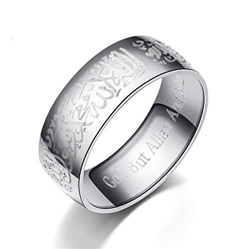 laimoere Titanium Steel Muslim Rings, Round Sealing Rings, Fashion Jewelry, Birthday Gifts