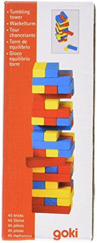 Torre de equilibrio de madera de 45 piezas Multicolor
