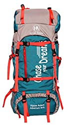 Hyper Adam 65 L Rucksack Hiking Backpack Trekking Bag Camping Bag Travel Backpack Outdoor Sport Rucksack Bag 65 Ltrs (Sea Green),Hyper Adam