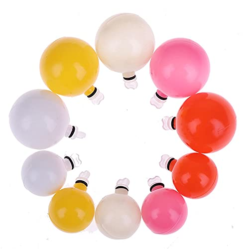 XJJZS 10 unids Pesca Floats Drift Balls Plastic Mar Floots 0.75inch 1inch Waggler Fishing Bobbers Finger-Boyant Fly Pesca Accesorio