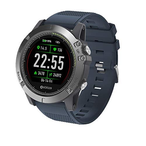 Zeblaze Vibe 3 HR Smartwatch IP67 Smart Wrist Fitness Pedometer Remote Camera Call Reminders Wristwatches Wearable Device IPS Color Display Smart Watch for iOS and Android