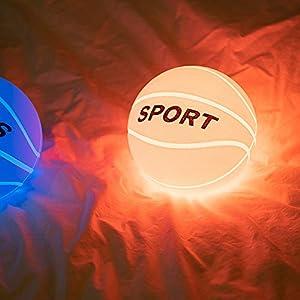 Sport Basketball Night Light, AVEKI Tap Control Night Lamp Toy for Boy Ball Design Adjustable Brightness Sleep Night Lights for Children Room Birthday Christmas Holiday Gifts