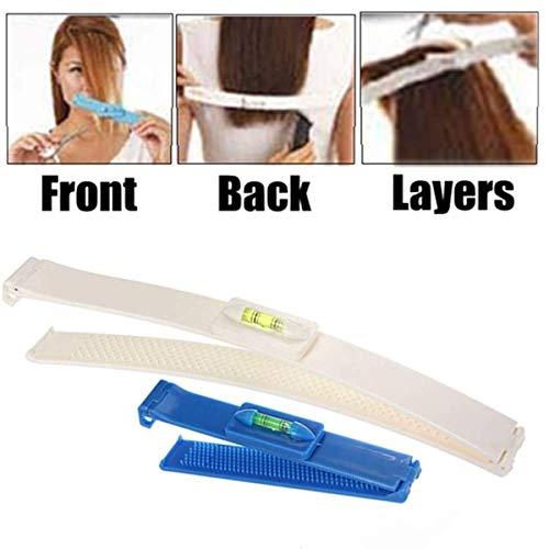 Funmazit Professional Salon Clipper Trimmer Thinning Haircutting Hairstyling Tool Kit DIY Haarschneide Hilfe Clip Haarschneidewerkzeug Kamm Werkzeug Pony Frisur Fransen Haircutting Werkzeug(Blau)