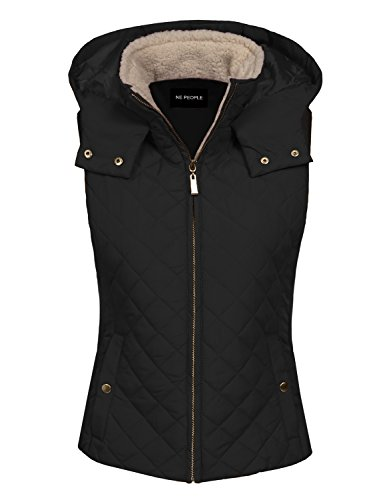 NE PEOPLE Womens Lightweight Quilted Zip Up Stand Collar Padded Vest S-3XL