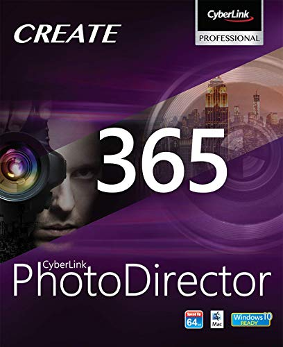 CyberLink PhotoDirector 365 / 12 MOIS | 12 Mois | PC | Code d'activation PC - envoi par email