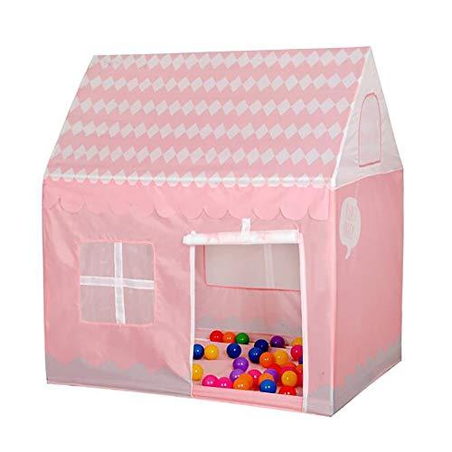 CLII Kinder Zelt Baby Spielhaus Kriechtunnel Druckereien Jungen Und Mädchen Innen-Spielzeug-Schloss Zelt Spielzelt, Im Freien Kindertheater Geschenk,Pink Plaid