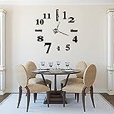 GOTOP - Reloj de Pared 3D con números y Letras para Bricolaje, Reloj de Pared silencioso, para Dormitorio, Oficina, decoración del hogar