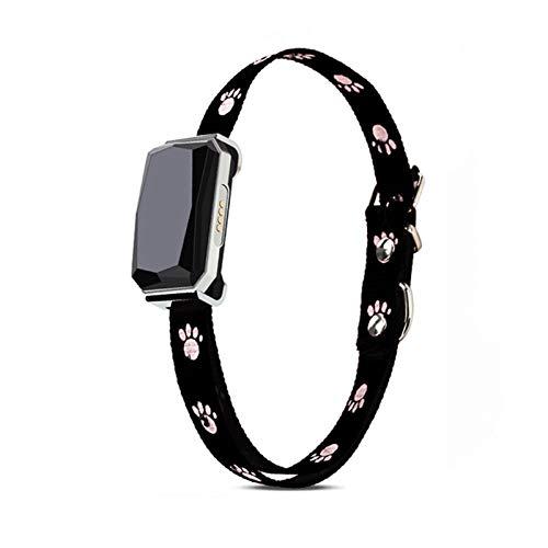 Rastreador de Mascotas, Collar Inteligente para Perros con notificaciones de la aplicación, GPS + WiFi + LBS, monitoreo de ubicación en Vivo para Mascotas de Cualquier tamaño