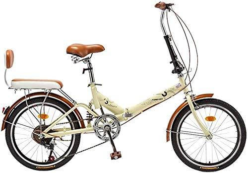 Bicicleta plegable de 20 ruedas, 6 velocidades, 2 ruedas, portátil y plegable, para adultos, ejercicio, compras, picnic, actividades al aire libre