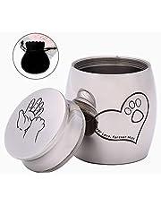 Schleuder Urna Cenizas para Gatos 1.5″X1.2″ | Pequeñas Acero Inoxidable Urna Cenizas para Perros Conejos Cenizas | Urna Cenizas con Bolsa de Terciopelo