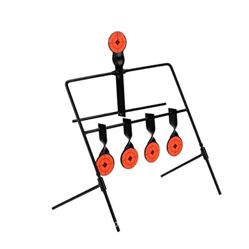 BESPORTBLE Bogenschießen Ständer mit 5 Ziel Scheibe Bodenständer Scheibenständer Bogen Zielscheibe Edelstahl Schießscheiben Halter Ständer für Outdoor Jagd