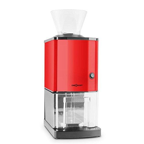 oneConcept Icebreaker Red Edition - Picadora de hielo, Picahielo, 15 kg/h, Recipiente de 3,5 L (unos 1,75 kg) para el hielo, Embudo de llenado, Interruptor de seguridad, Antideslizante, Rojo