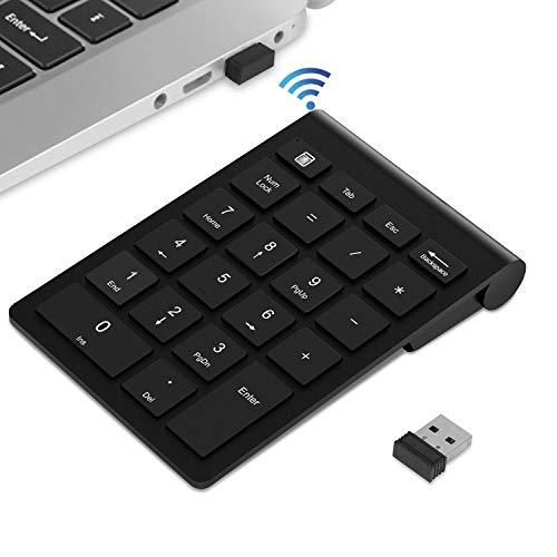 TedGem Ziffernblock, 2,4 GHz Ziffernblock USB Ziffernblock Kabellos, Numpad Wireless mit Multi-Funktion 22 Tasten, Tastatur Ziffernblock für Macbooks, PC und Laptops