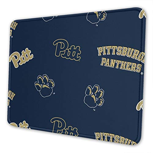 University of Pittsburgh Mouse Pad Stitched Edge Non-Slip Rubber Base Rectangle Gaming Mousepad for Laptop Computer & Pc