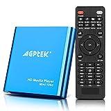 AGPTEK Mini 1080P Full HD Ultra HDMI Pour Lecteurs -MKV / RM- HDD USB, Lecteur multimédia HDMI avec Télécommande pour MP3, WMA, OGG, AAC, plate, Ape, AC3, DTS, Atra (Bleu)