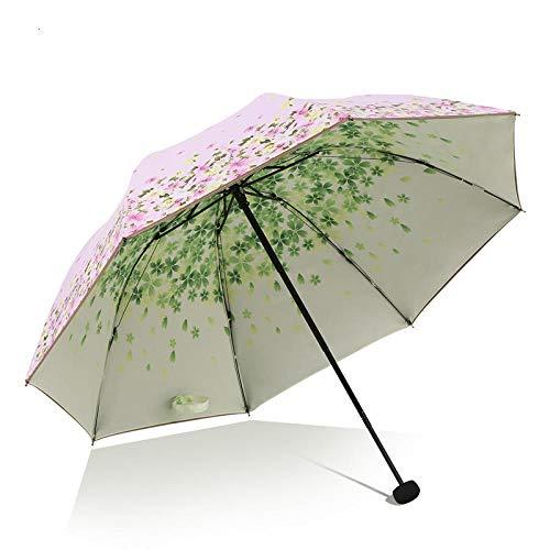 Paraplu opvouwbare paraplu's paraplu anti-UV vrouwelijke kleine verse Sen dubbele zonnebrandcrème paraplu vouwen