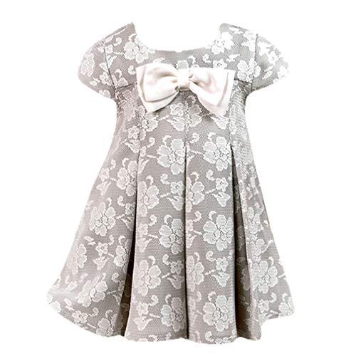 Christopher Babykleid Festkleid für Mädchen blumig grau Taupe elegant inkl. Stirnband 5461 Gr. 62