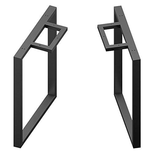 Bordsben JWZQ 2-delat set (svart) barben, konferens, djärv kaliber 60 x 40 cm, kan bära 550 kg vikt. Åta hotell, restaurang och andra anpassade