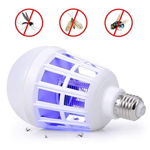 Suit Outdoor Porch Patio Backyard 2 Pcak Bug Zapper Light Bulbs Fits 110V E27 Light Bulb Socket Electronic Insect Killer Fly Killer Lamp