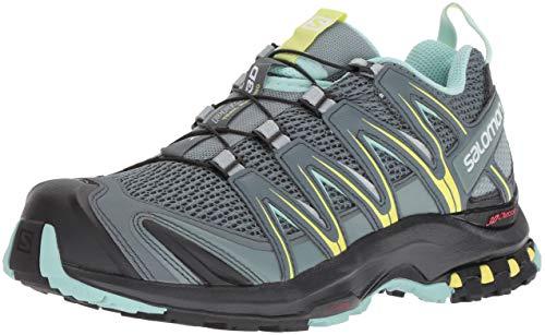 Salomon XA Pro 3D W Zapatillas de trail running Mujer, Multicolor (Stormy Weather/Lead/Eggshell Blue), 36 2/3 EU (4 UK)