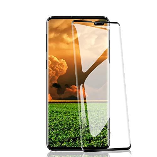 RIIMUHIR 2 Pezzi Pellicola Vetro Temperato Compatibile con Samsung Galaxy S10 Plus/S10+, 3D Copertura Completa Trasparente Ultra Resistente, Anti-Graffi, Anti-Impronte, Senza Bolle