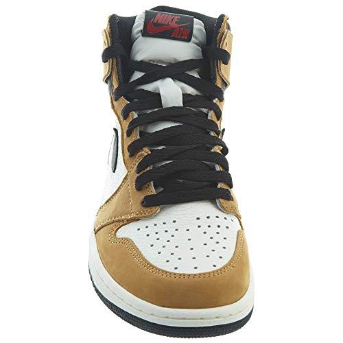 Nike Air Jordan 1 Retro High OG, Zapatillas de Deporte Hombre, Multicolor (Golden Harvest/Black/Sail 700), 38.5 EU