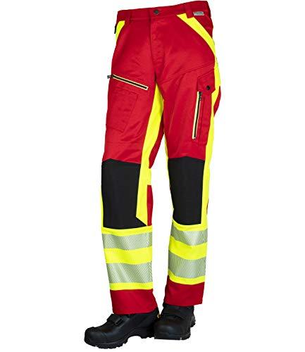 GSG build to protect Magnus II ISO20471 - Pantalones de seguridad reflectantes (clase 1) rojo y amarillo 1 mes