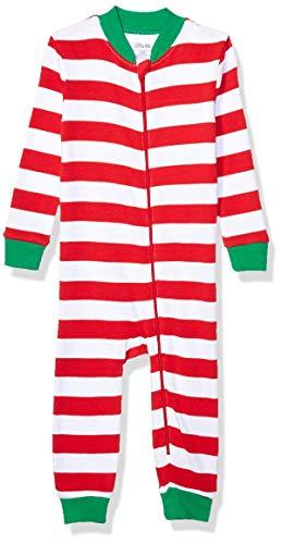 Little Me Holiday Cotton Pajamas Coche Cama, Rosso, 12 Meses Unisex bebé